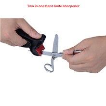 Newes Профессиональный 2 в 1 карманный нож ножничный точилка для лезвия ножа заточка для кухни инструменты для приготовления пищи идеальный точильный камень