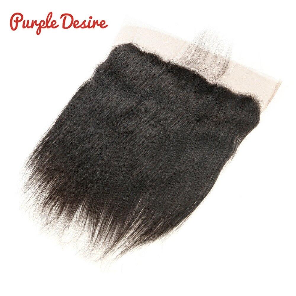 Brazilijos tiesios plaukų ausies į ausį nėrinių priekinės uždarymo žmogaus plaukų uždarymo 13x4 priekinės su kūdikių plaukų natūralios spalvos Remy