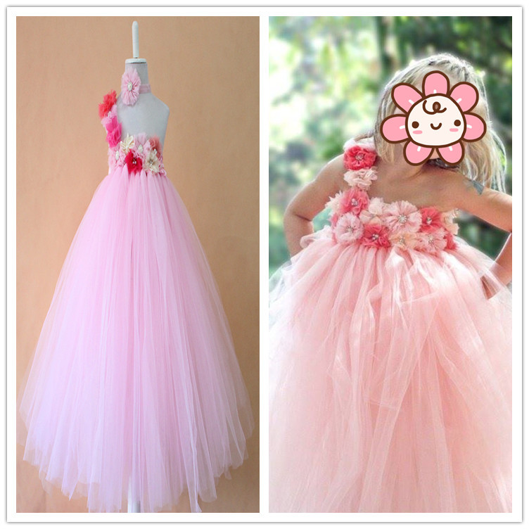 Online Shop 2015 fashion baby girls party gowns handmade new designs ...