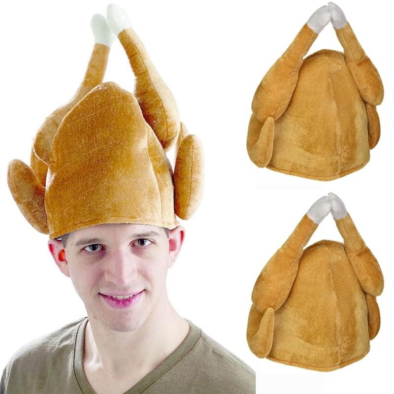 Roast Turkey Hat Beanie Cap Thanksgiving Christmas Holiday Novelty Accessory