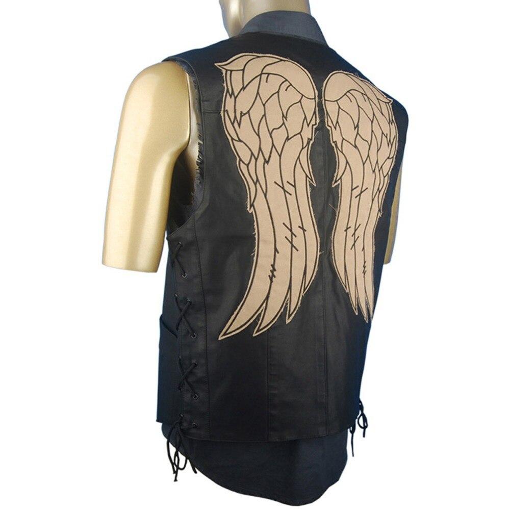 Daryl Giacca Walking Ali di Maglia Angel Costume Dixon di Dead The w7BTPn