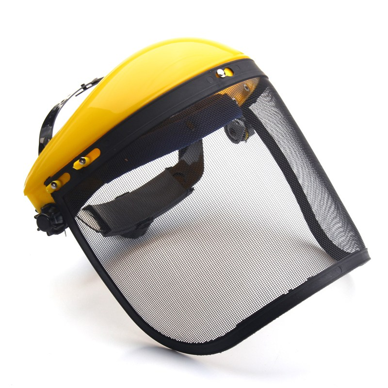 NEW Mesh Safety Visor Full Face Shield Eye Protection Shredder Outdoor Garden Helmet Workplace Safety