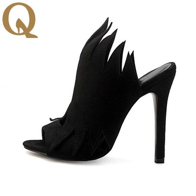 d6346d3d73d1 Black Suede Gladiator Women Sandals New Arrival High Heel Brand Sandals  Spring Summer Shoes Woman Slipper Ladies Shoe Pumps