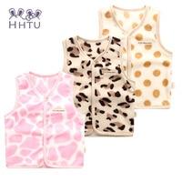 HHTU Westen Casual Baby Mädchen Mäntel Herbst Weste Jacke Kinder Kleidung Charakter Mode Kleidung Leopard warm Rosa Dot
