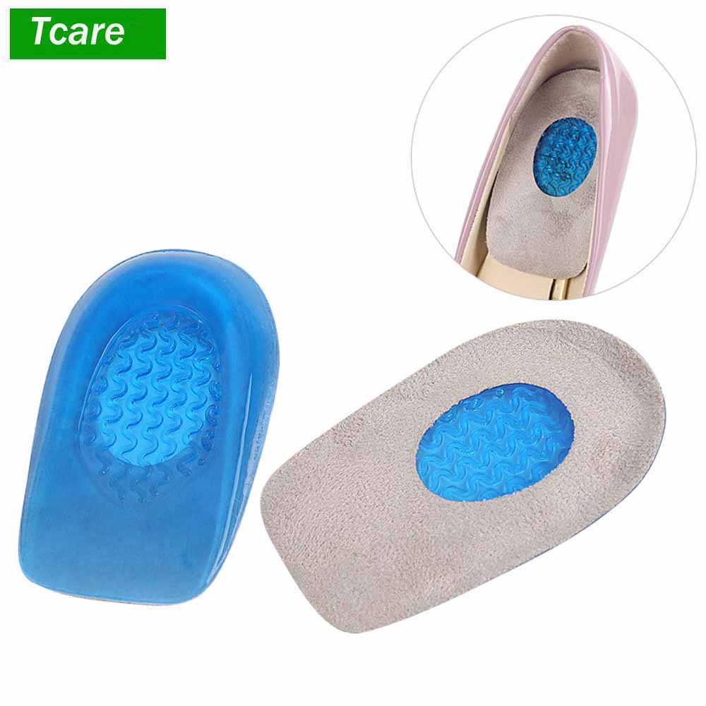 Gel Heel Cups Shoes Inserts for Heel Spurs Massage Cushions Foot Pain Relief