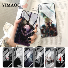 YIMAOC Hunter X Anime Coque Glass Phone Case for Apple iPhone XR XS Max 6 6S 7 8 Plus 5 5S SE