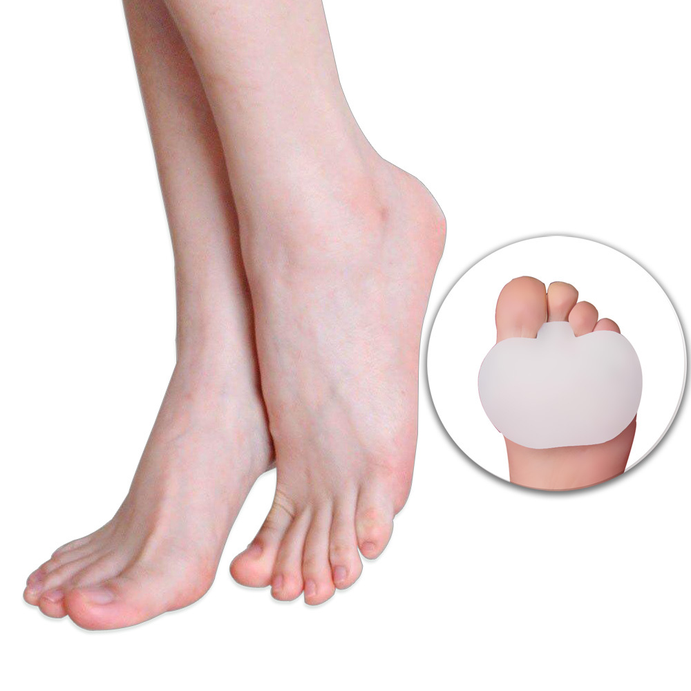 Image 2 - 1Pair Silicone Gel Metatarsal Pads for Shoes Sore Ball Foot Care Tool Feet Pain Shoes Insoles Pads Cushion Forefoot Arch Support-in Foot Care Tool from Beauty & Health