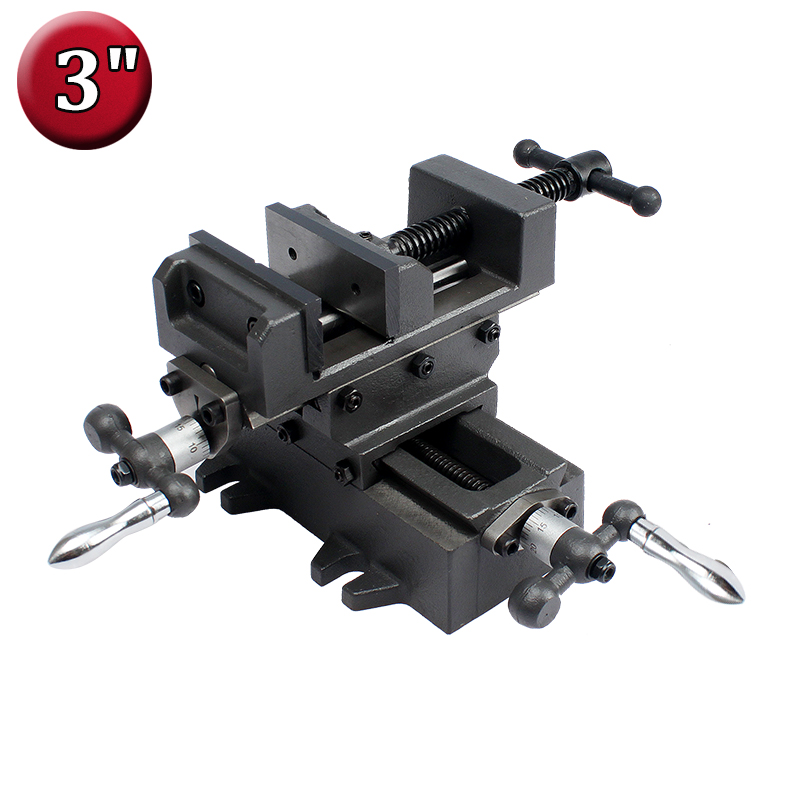 3 Compound Cross Slide Vise Heavy Duty 2 Way X Y Axis Industrial Strength Benchtop and