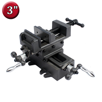 3 Compound Cross Slide Vise Heavy Duty 2 Way X Y Axis Industrial Strength Benchtop and Drill Press Vice For Milling, Machinists