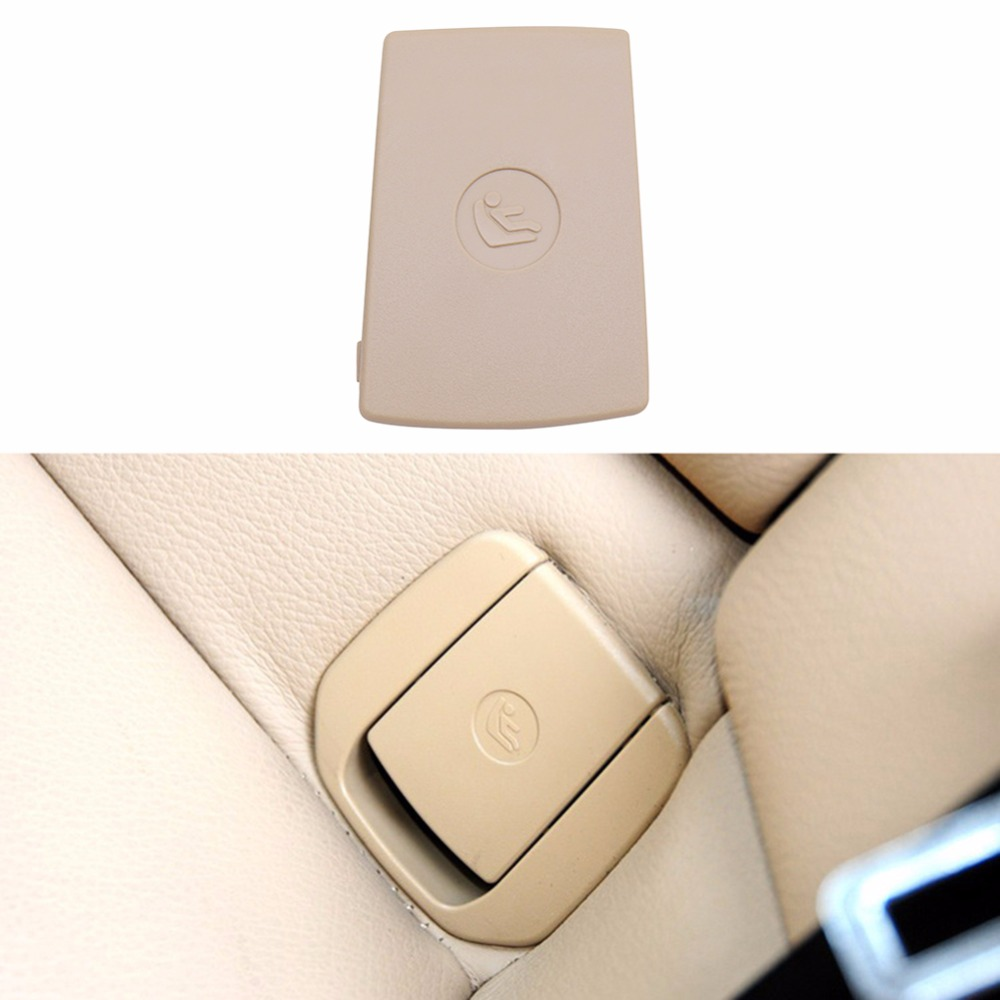 Children Car Rear Seat Safety Hook ISOFIX Cover Child Restraint For BMW X1 E84 3 Series E90 F30 1 Series E87 Black Beige