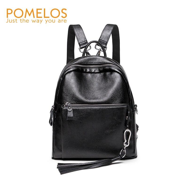 POMELOS Fashion Women Backpack Soft Leather Female Travel Backpack Purse Back Pack Girls Rucksack Designer Brand High Quality