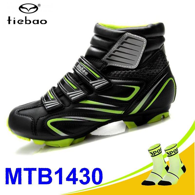 Tiebao sapatilha ciclismo vtt chaussures de cyclisme hiver hommes baskets femmes vtt bicicleta VTT chaussures chaussures de vélo chaud