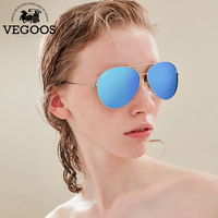 גברים ונשים משקפי שמש מקוטבות אמיתי VEGOOS תעופה פלאש עדשת שיקוף נשי UV Eyewear הגנת משקפי טייסים משקפיים שמש #3025 V