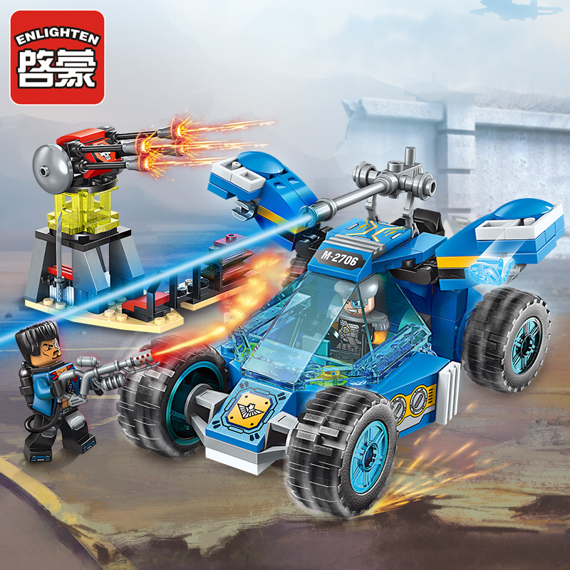 Enlighten Building Block High-Tech Era Armed Scout Car 2 Figures 191pcs Educational Technic Bricks Toy For Boy Gift-No Box