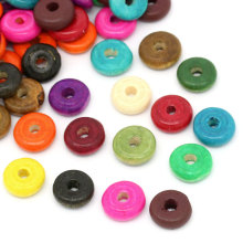 500Pcs Mixed Round Circle Ring Wood Spacer Beads Perles Perlas Wooden 10mm( 3/8
