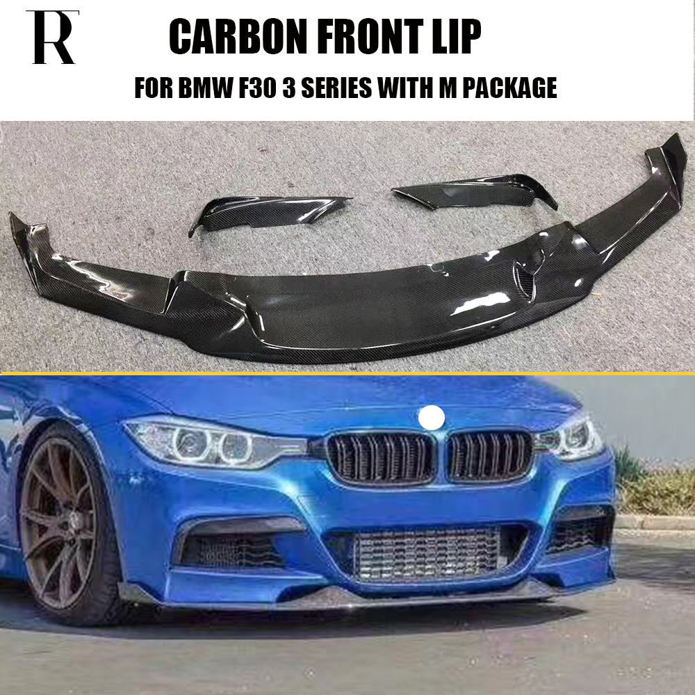 F30 MAD Style Carbon Fiber Front Bumper Lip Chin Spoiler With Upper Splitter for BMW 320 328 335 with M Package 12 - 18F30 MAD Style Carbon Fiber Front Bumper Lip Chin Spoiler With Upper Splitter for BMW 320 328 335 with M Package 12 - 18