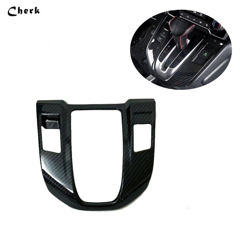 For Honda CRV CR-V 2017 2018 ABS Carbon Matte Car Interior Gear Box Shift Knob Panel Decoration Cover Trim Frame Sequins Sticker