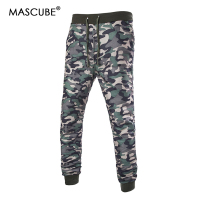 MASCUBE Brand Men Pants Hip Hop Harem Joggers Pants 2019 Male Trousers Mens Joggers Camouflage Pants Sweatpants