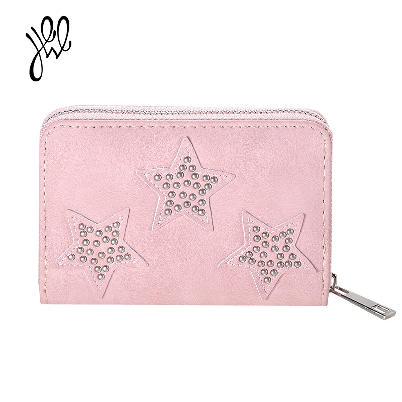 Fashion Style Wallets Mini PU Leather Lovely Women Wallet Small Star Short Purses For Girls Card Holder Purse Sweet Gift 500695 new fashion leather small lady wallets women coin purse short with card holder vintage girls wallet mini purses best gift 500835
