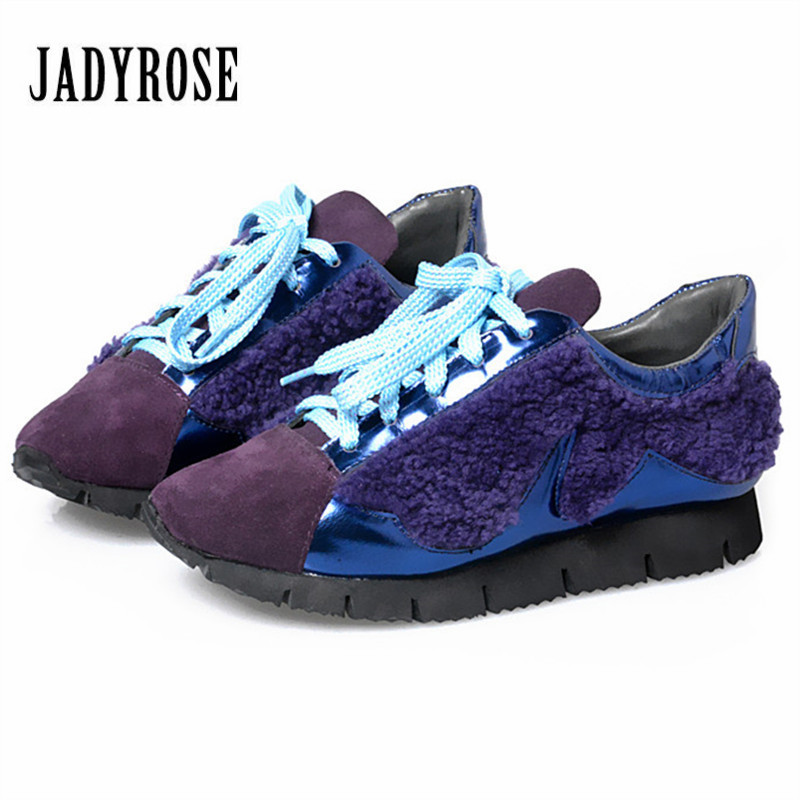 Jady Rose 2017 New Women Flat Shoes Lace Up Casual Shoes Espadrilles Platform Creepers Female Loafers Flats Tenis Feminino цена и фото