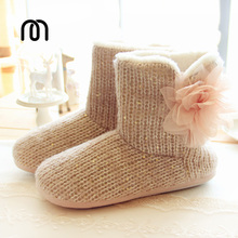 2016 New knitted shoes home shoes fashional home floor warm cotton shoes boots