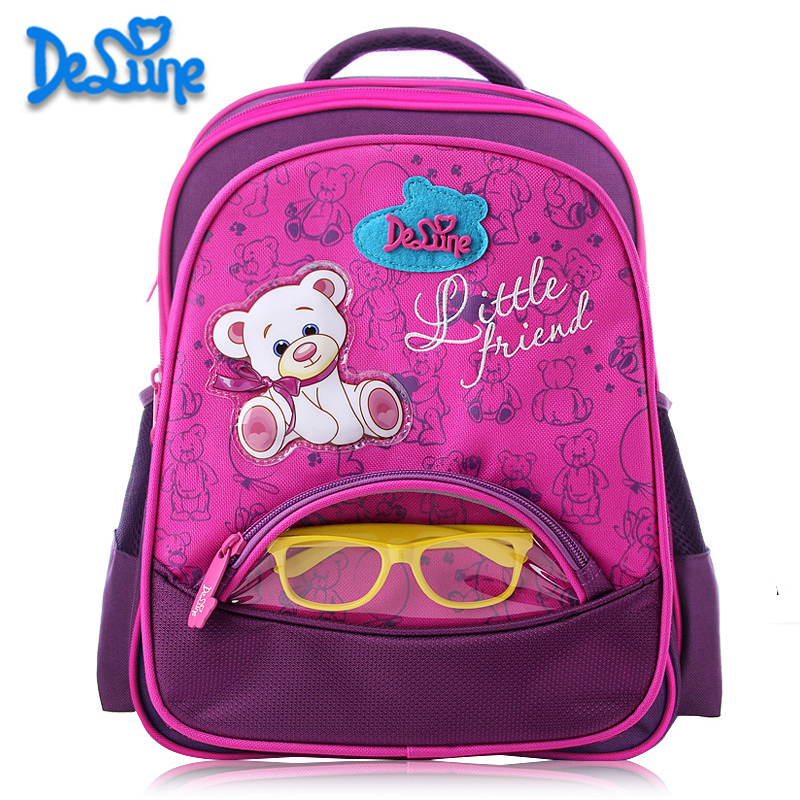 Girls School Bags Orthopedic Princess Schoolbags Children Backpack boys Cartoon Bear Car Primary Bookbag Kids Mochila Infantil