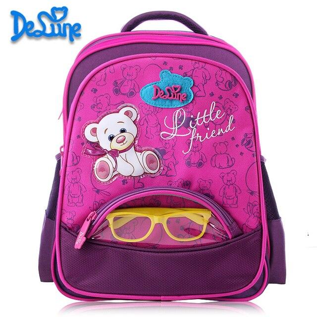 eb129ba35025 Girls School Bags Orthopedic Princess Schoolbags Children Backpack boys  Cartoon Bear Car Primary Bookbag Kids Mochila Infantil