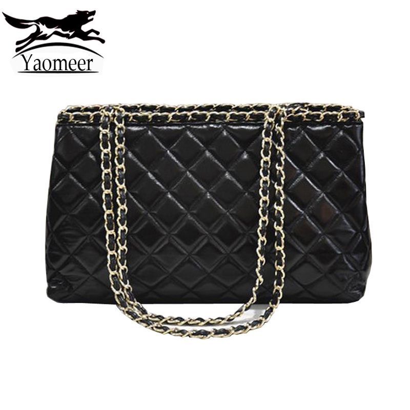 Famous Brand Chain Quilted Women Bags Designer Handbags Luxury Black Soft Pu Leather Shoulder Messenger Bag Female Fashion Totes xi yuan 2017 genuine leather bags men high quality messenger bags small travel dark brown crossbody shoulder bag for men gifts