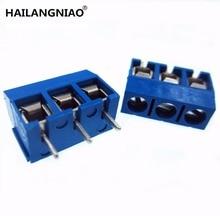 """100 יחידות, כחול הכחול המגרש 5.08 מ""""מ מחבר KF 301 3P 5.08 301 3 P חדש"""