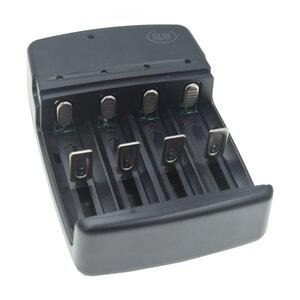Image 3 - 4 slots smart usb carregador de bateria para recarregável 1.6v NI ZN aa aaa 3.2v lifepo4 32650 18650 14500 carregador de bateria