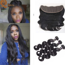 7A Mocha Hair Products Malaysian Virgin Hair Body Wave 3 Bundles With Frontal Closure 13×4 Malaysian Human Hair With Frontal