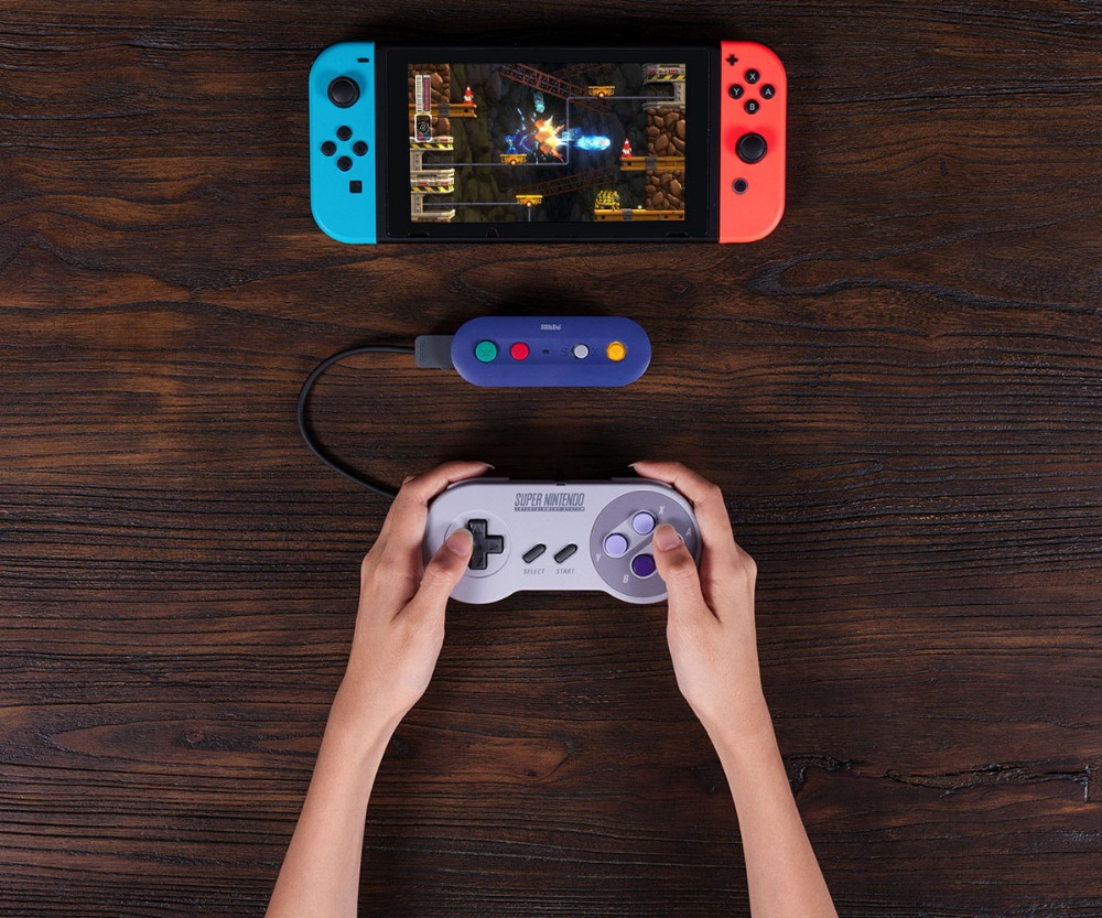 8bitDo GBros Wireless Adapter for NES SNES SF-C Classic Edition Wii Classic for Nintendo Switch Gamecube 20