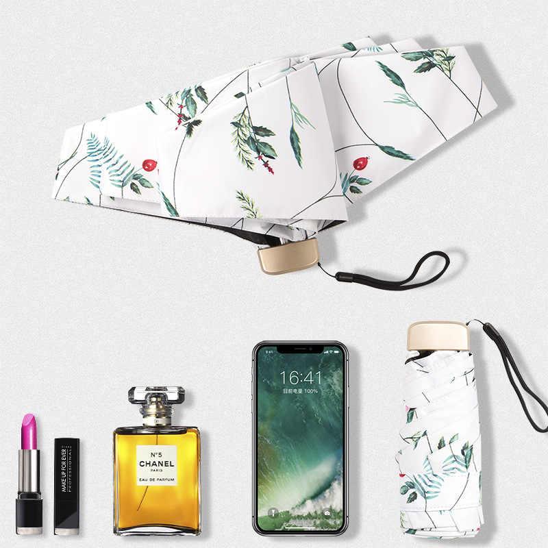 Kocotree цветочный узор посылка Мини качество Солнечный дождливый модные креативные складной бренд зонтик для женщин женс