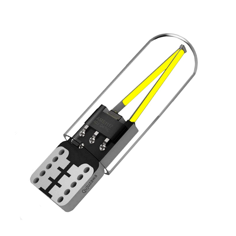 T10 194 2825 WY5W W5W Filament Lights COB LED Glass Shell Wedge Auto Parking Bulbs CANBUS T10 194 2825 WY5W W5W Filament Lights COB LED Glass Shell Wedge Auto Parking Bulbs CANBUS NO ERROR Car Reading Dome Lamp  DC 12V