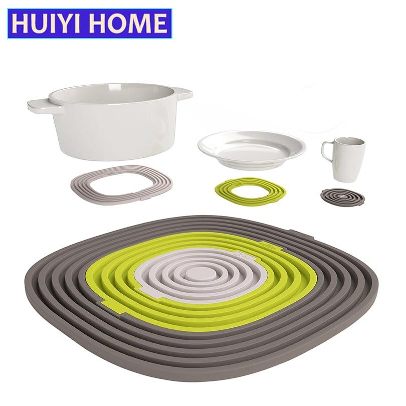 3pcs/set Pot Mat Silicone Dishes Insulation Pad High Temperature Resistance Kitchenware Cushion EKE006