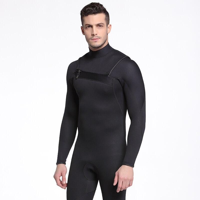 SBART néoprène combinaison hommes hiver garder au chaud natation surf à manches longues plongée sous-marine costume 3 MM plus épais chasse sous-marine combinaison humide K