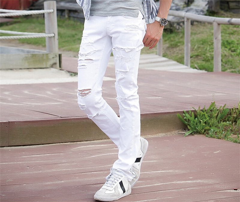 Popular Mens White Jeans-Buy Cheap Mens White Jeans lots from ...