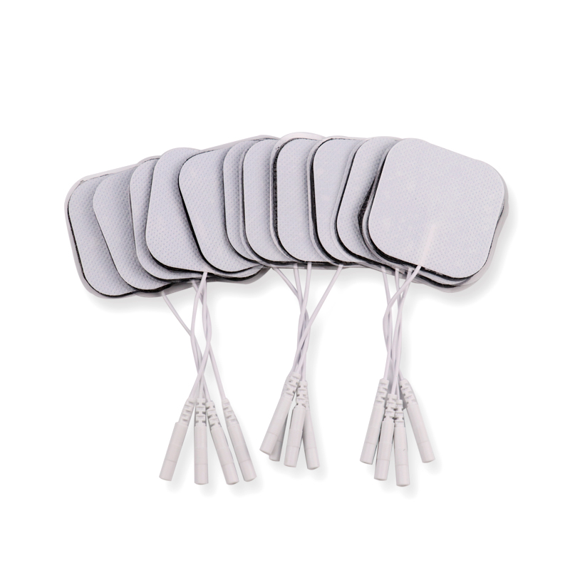 Image 2 - 100 Pcs 5x5cm 2mm Plug Reusable electrodes Tens Electrode Pads For Nerve Muscle Stimulator Digital Physiotherapy Massager-in Massage & Relaxation from Beauty & Health