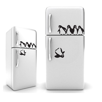 1PC Funny Penguin Kitchen Fridge Sticker-Free Shipping For Kitchen