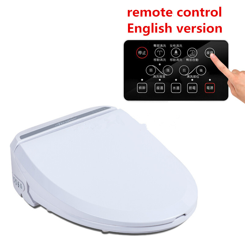 Smart Heated Toilet Seat With Remote Control Bidet Toilet Seat Hinge WC Sitz Intelligent Water font