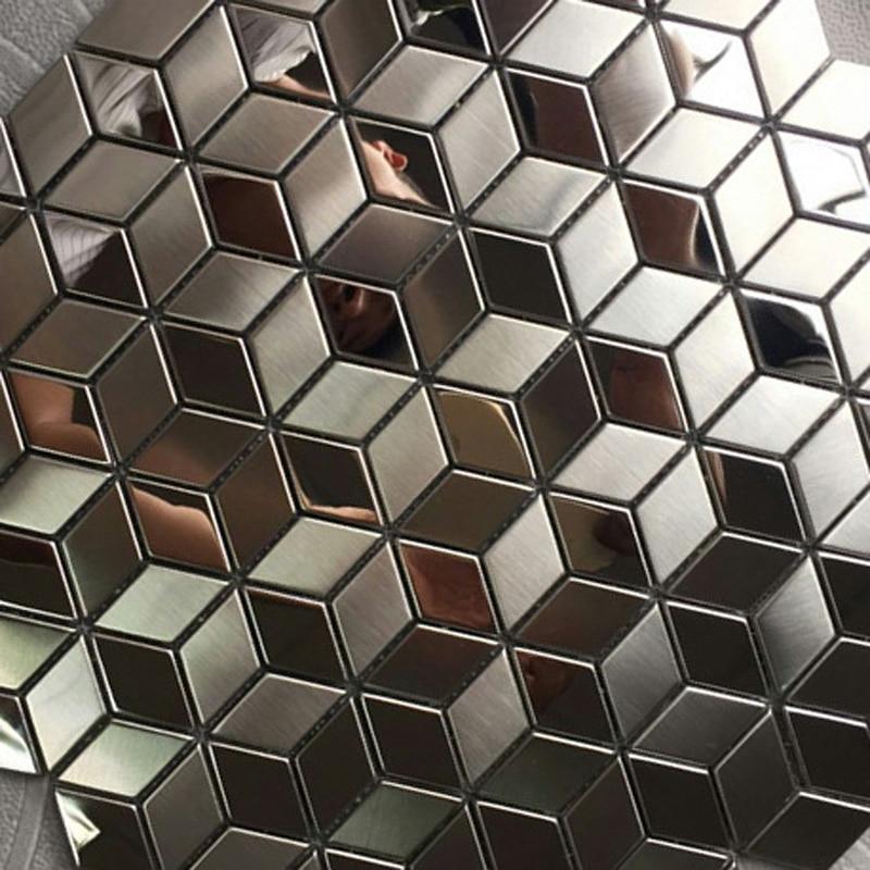 China Rhombus Stainless Steel Metal Mosaic Tile
