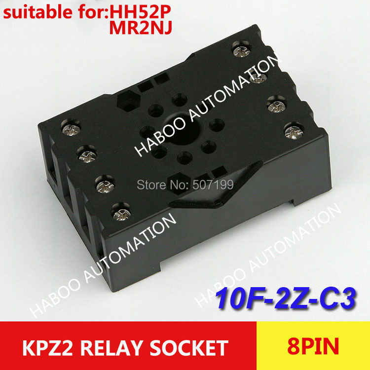 HABOO sereis 10pcs/lot socket 10F-2Z-C3 8pin socket for HH54P & MY4NJ relay PF-083BE electrical relay sockets