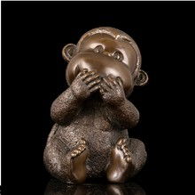 Handmade Antiques Bronze Smart Monkey Sculpture Chinese Zodiac Mascot Statue fengshui Lucky Gifts(China)