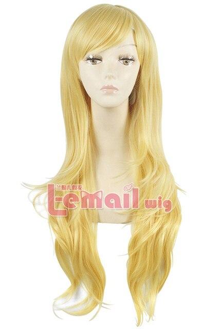 Дешевые 80 см длинные прямые золотой желтый парик мой маленький пони парики из синтетических волос