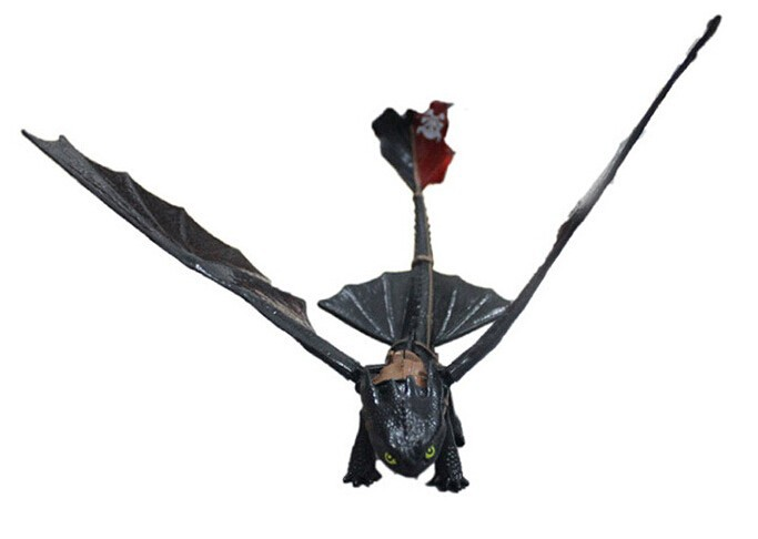 NEW Hot ! 20cm How to Train Your Dragon Night Fury PVC Action Figure toys Christmas gift 20cm large pvc figure how to train your dragon 2 night fury animiation toys doll retails cartoon model child gift