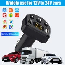 Car Kit MP3 Player Handsfree Bluetooth 5.0 FM Transmitter Dual USB Car Charger Support U Disk Music Play FM modulator