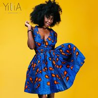 Yilia Many Ways Vestidos Summer 2018 New Women Dress African Print Clothing Casual Sexy A Line