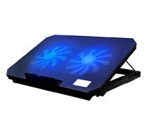 W432 Pace Adjustable laptop computer cooling pad pocket book cooler stand 2 usb help fan for macbook air retina professional lenovo samsung