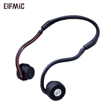 ELFMIC Bone Conduction Headset Wireless Bluetooth Stereo Sport Neck-Strap Headphone Hands-Free Earphone