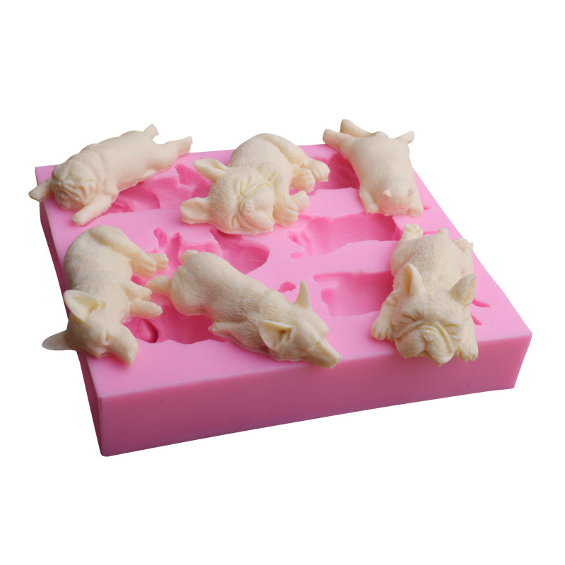 A Variety Of Puppy Sugar Craft Chocolate Fondant Silicone Mold For Cake Decoration DIY Food-grade Silicone Soap Making Molds(China)